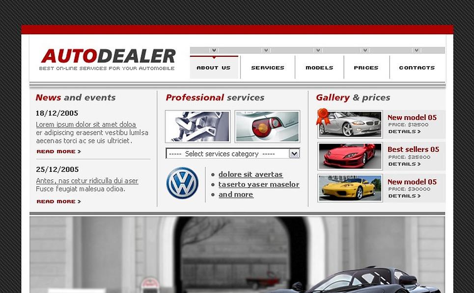 Car Dealer Flash Template New Screenshots BIG