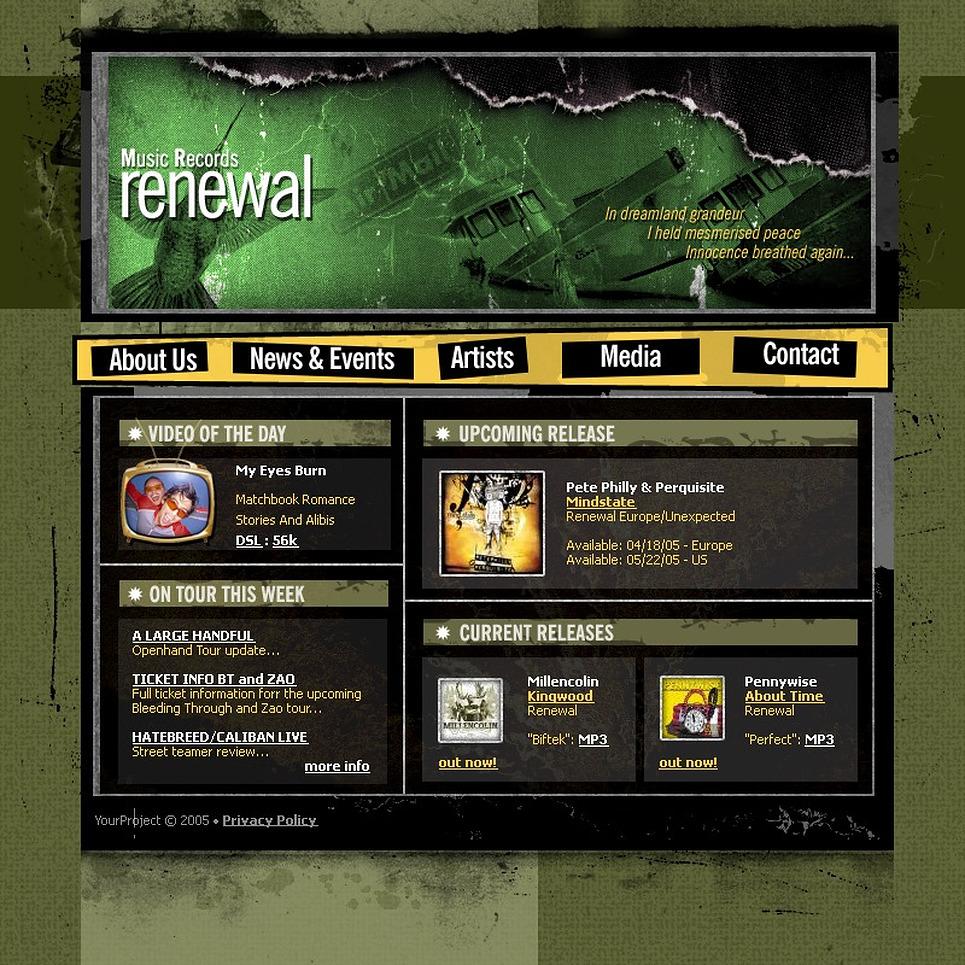 Recording Studio Website Template New Screenshots BIG