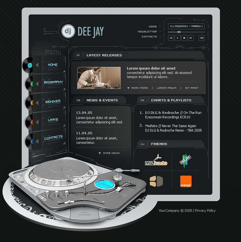 DJ Flash Template New Screenshots BIG