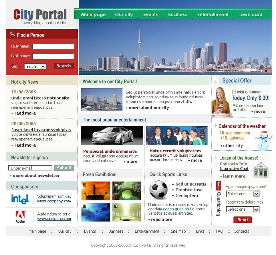 City portal swish template 8526 for Portal flash level 9