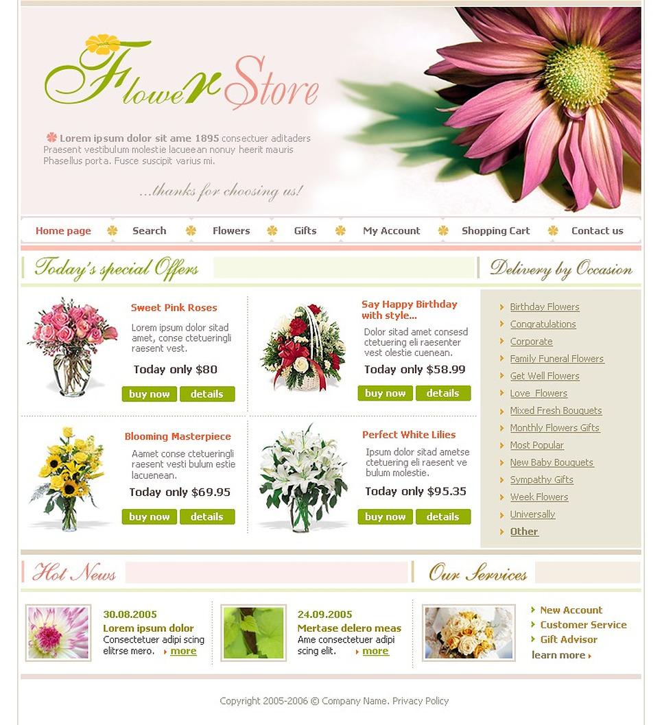Flower Shop Website Template