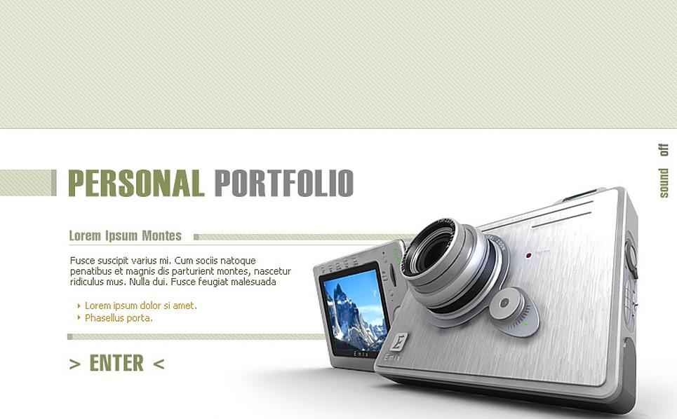 Photographer Portfolio Flash Template New Screenshots BIG