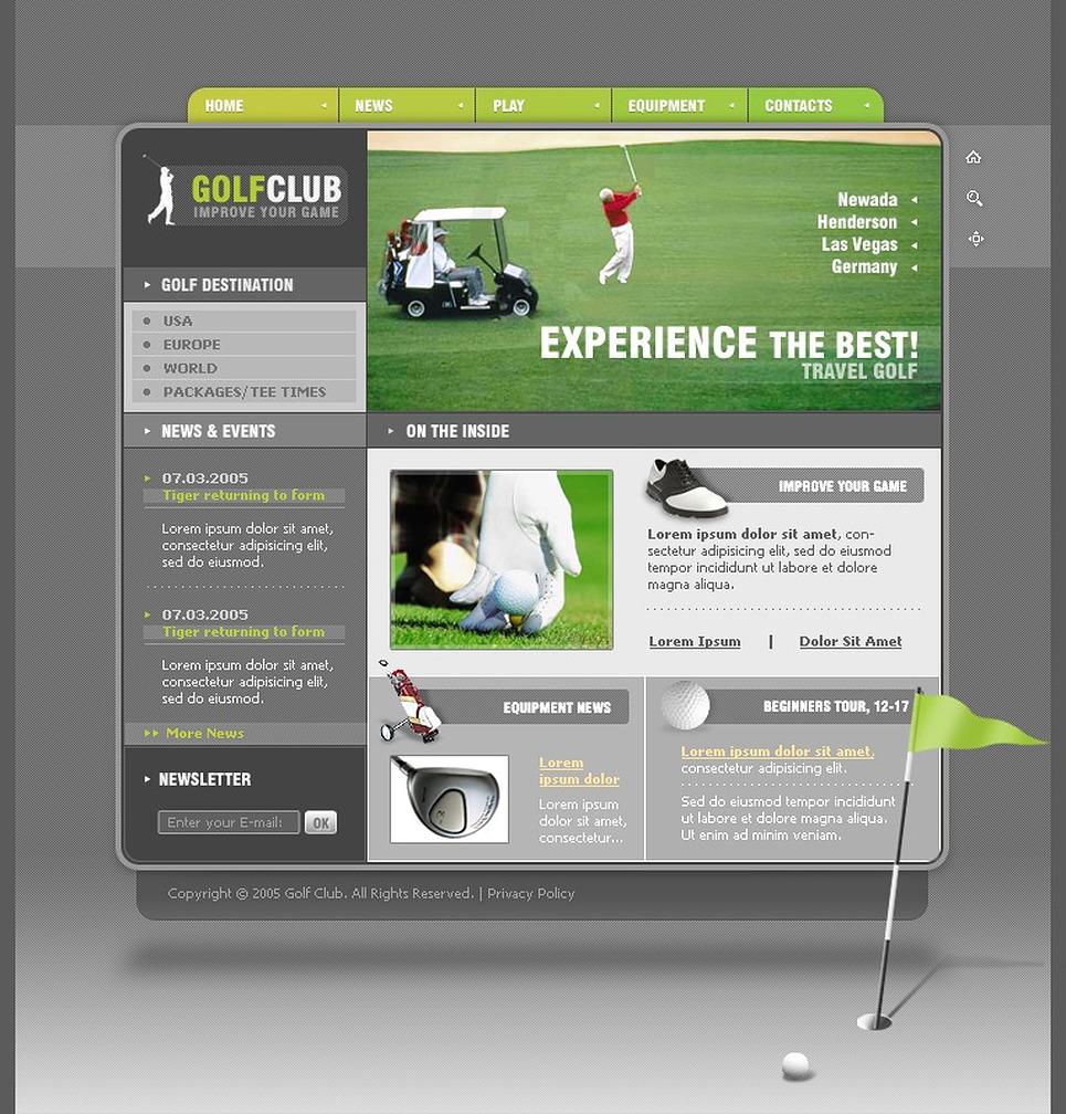 golf flash template web design templates website templates download golf flash template 8679. Black Bedroom Furniture Sets. Home Design Ideas