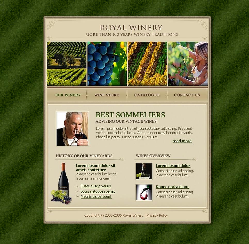 Winery Website Template New Screenshots BIG