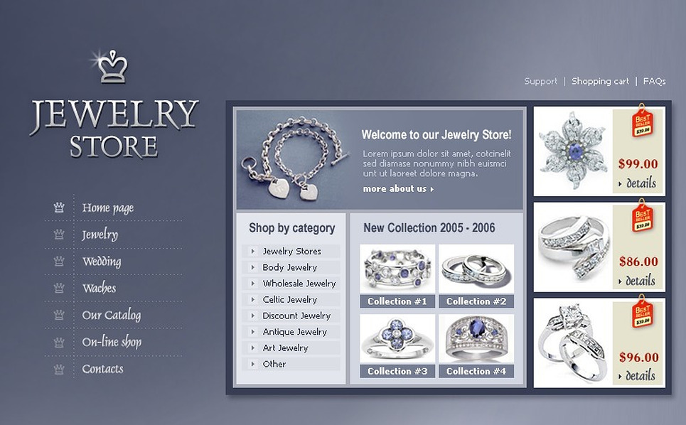 Jewelry Flash Template New Screenshots BIG
