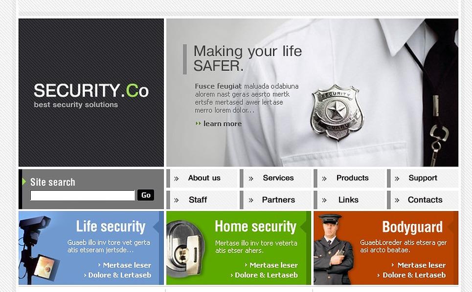 Security Website Template New Screenshots BIG