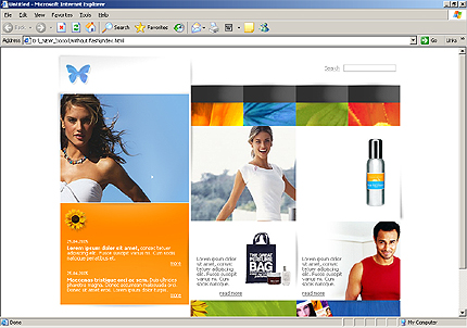 Website Template #8985