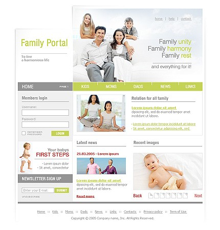 Website Template #8998