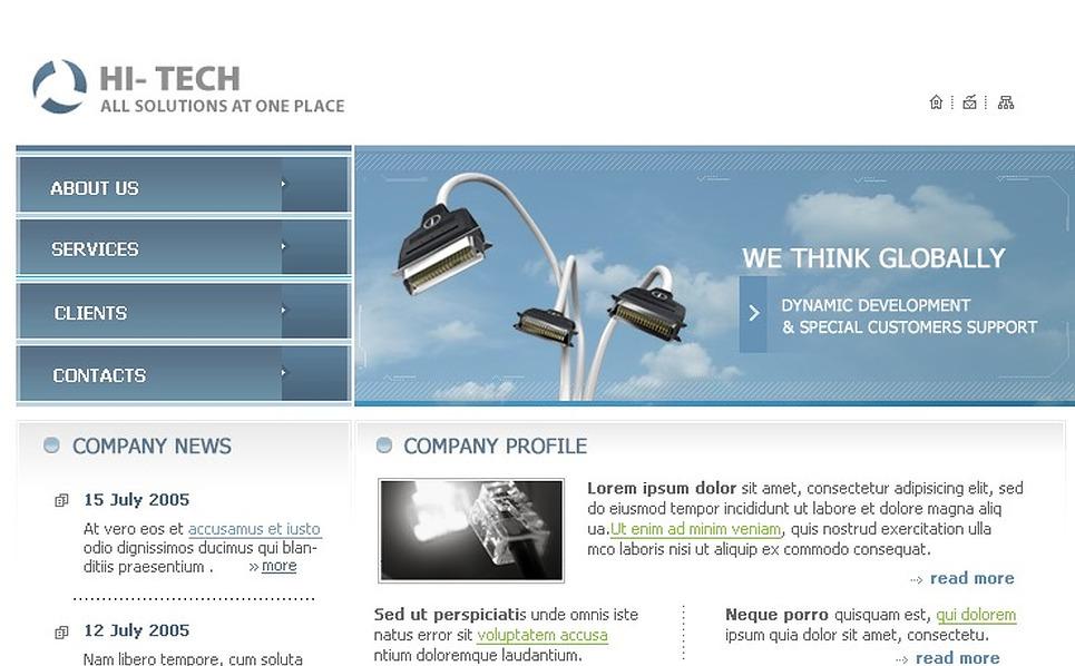 Electronics Website Template New Screenshots BIG