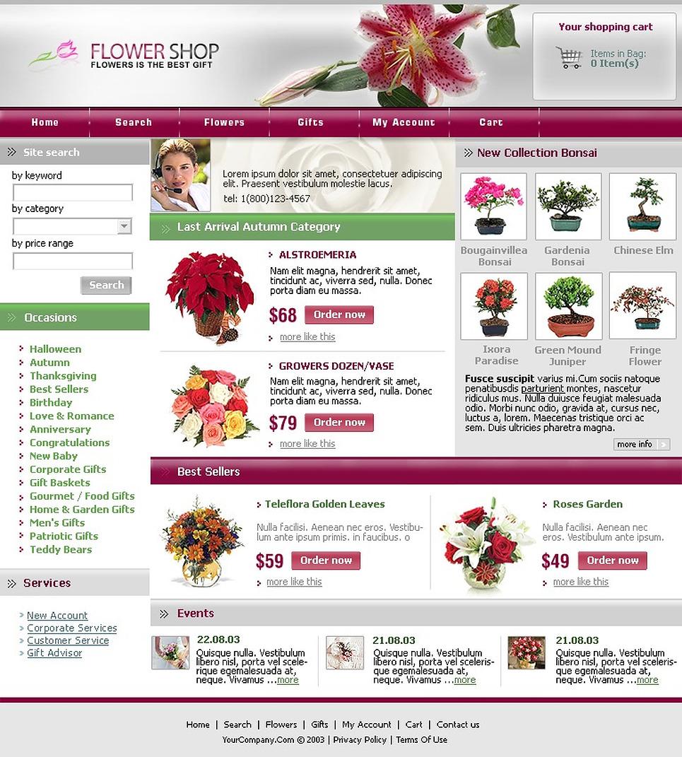 Flower Shop SWiSH Template New Screenshots BIG
