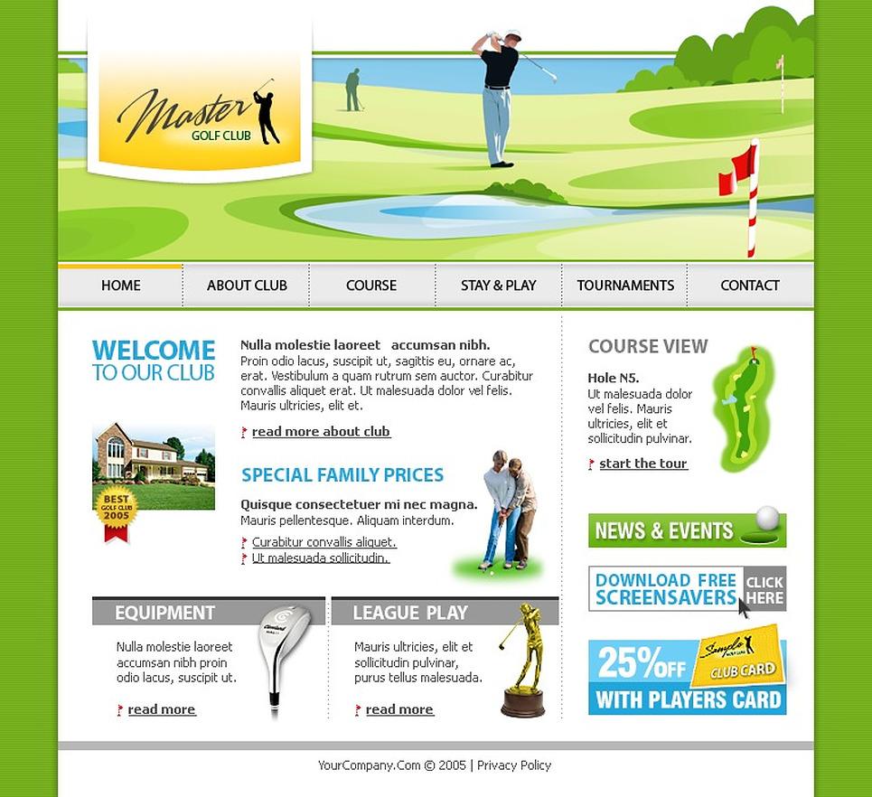 golf flash template web design templates website templates download golf flash template 9224. Black Bedroom Furniture Sets. Home Design Ideas