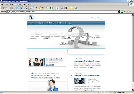 Website Template #9418