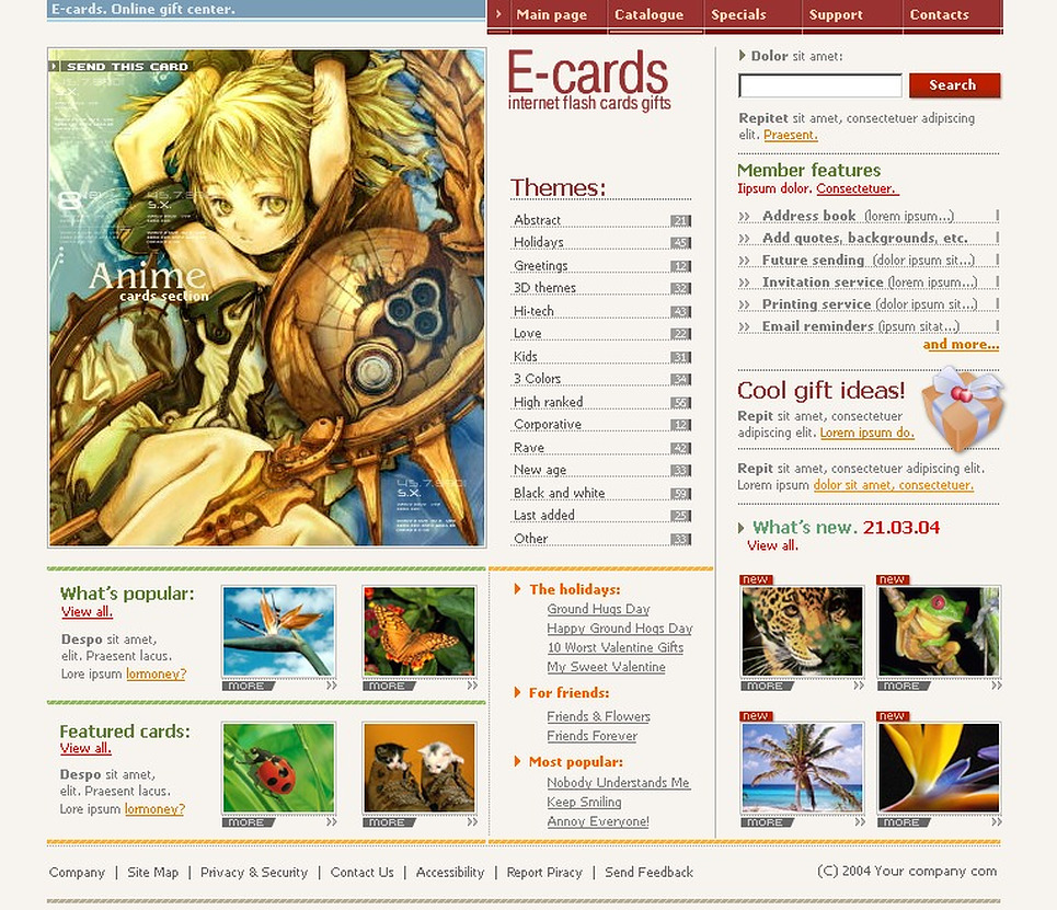 E-cards SWiSH Template New Screenshots BIG