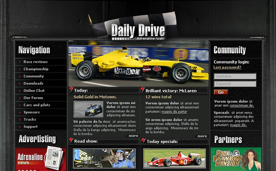 Car Racing SWiSH Template New Screenshots BIG