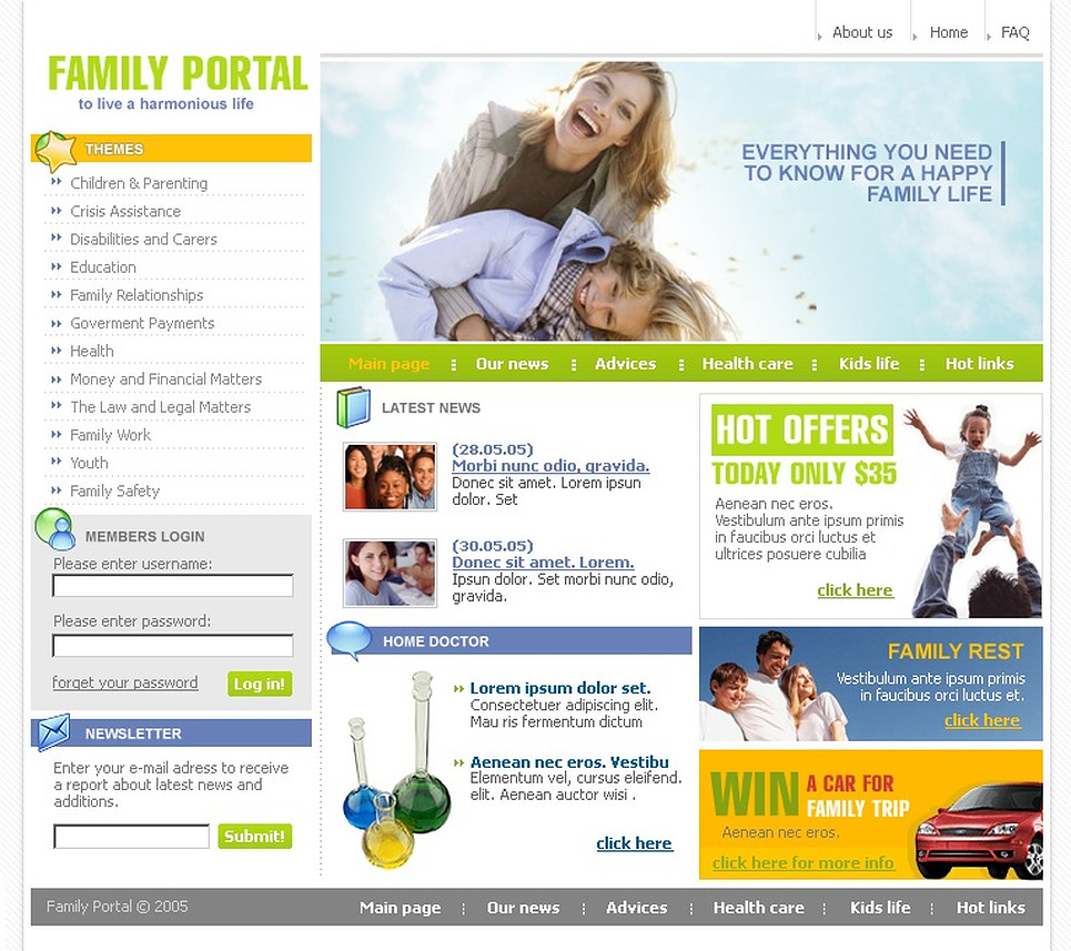 Family SWiSH Template New Screenshots BIG