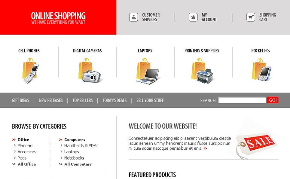 Computer Store Website Template New Screenshots BIG