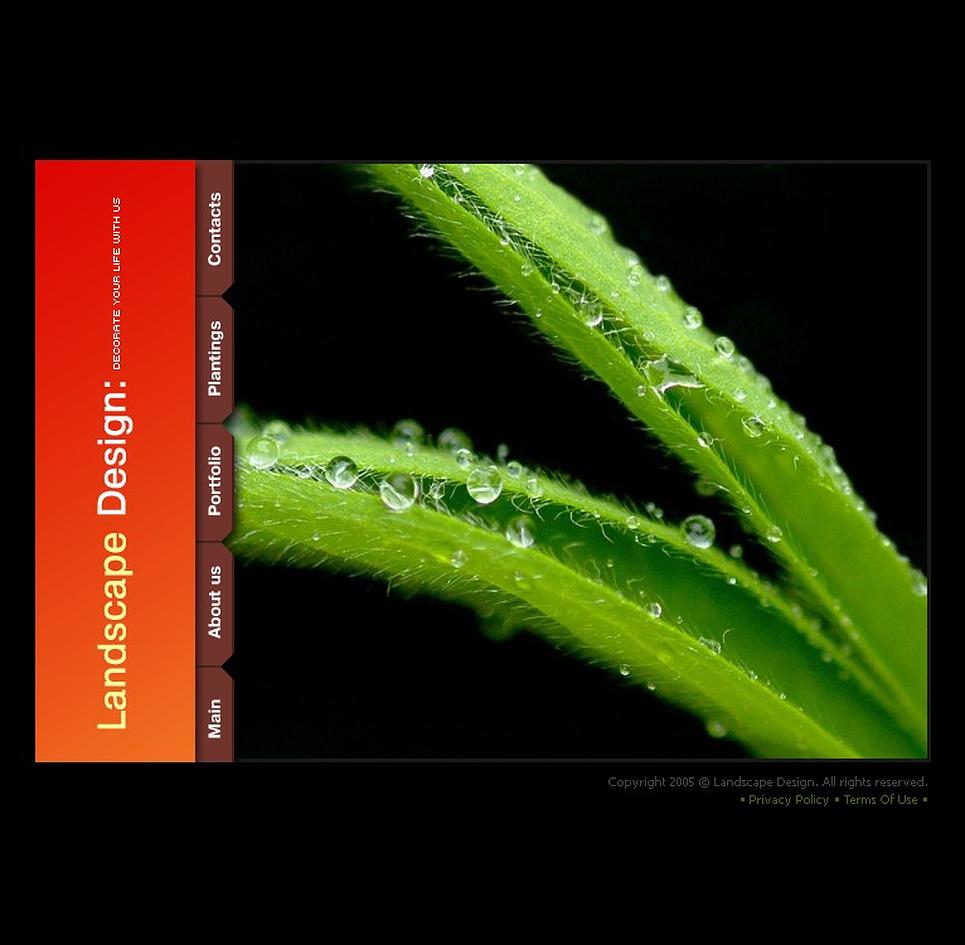 Landscape Design Flash Template New Screenshots BIG