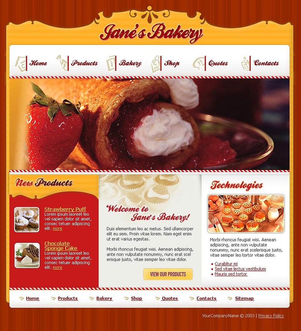 Bakery Website Template New Screenshots BIG