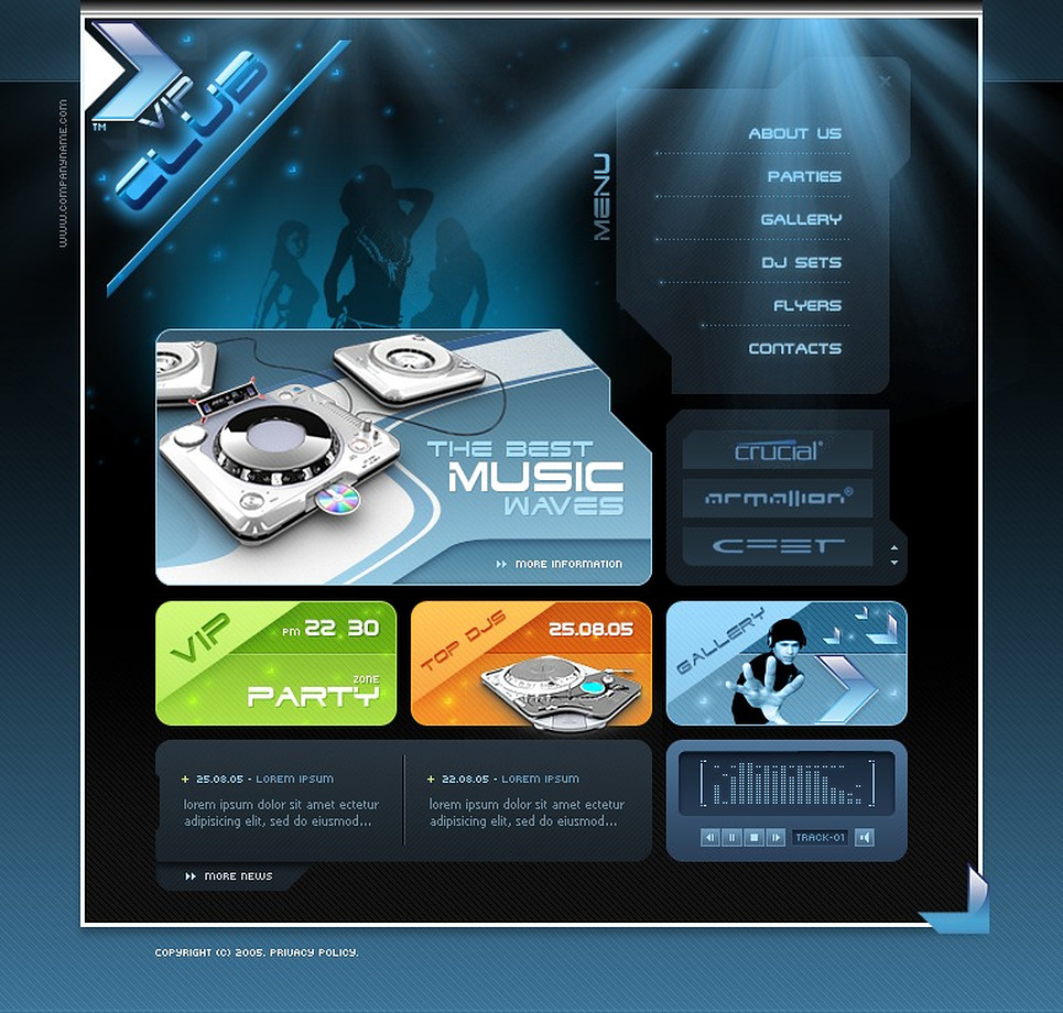 Night Club Flash Template New Screenshots BIG