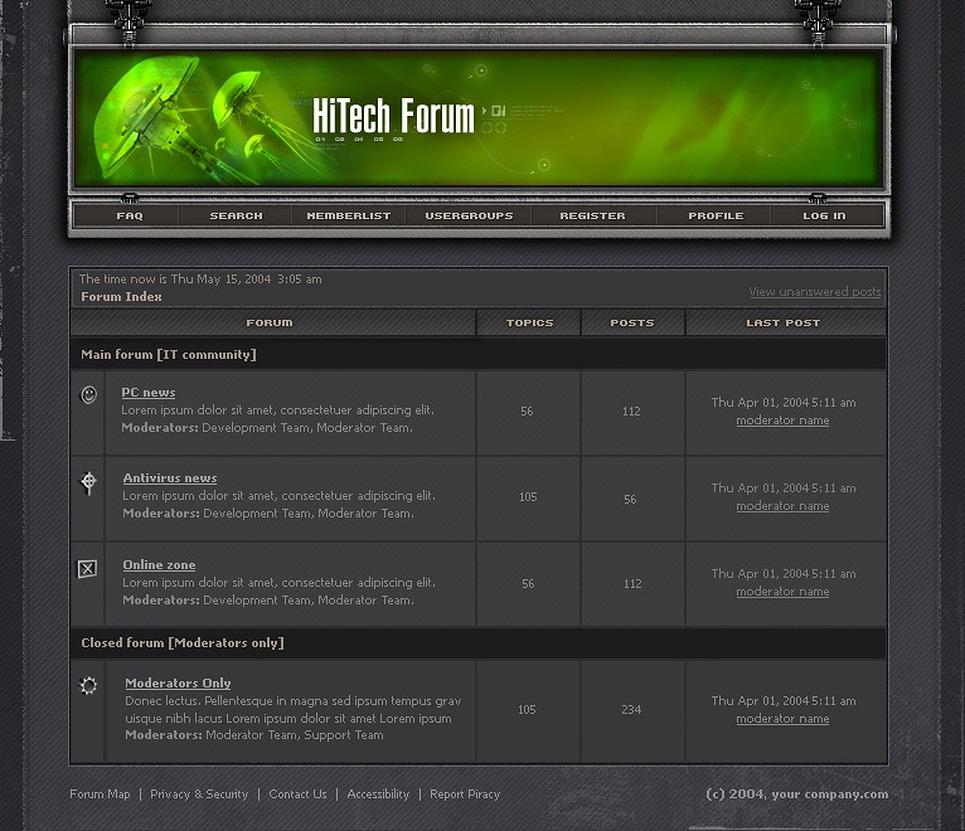 Neutral PhpBB Template New Screenshots BIG