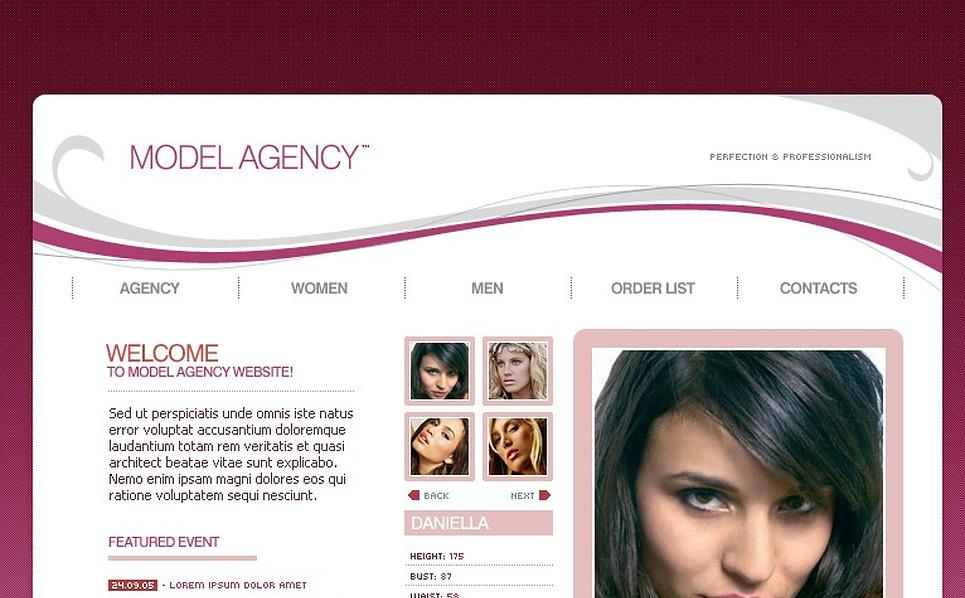 Model Agency Flash Template New Screenshots BIG
