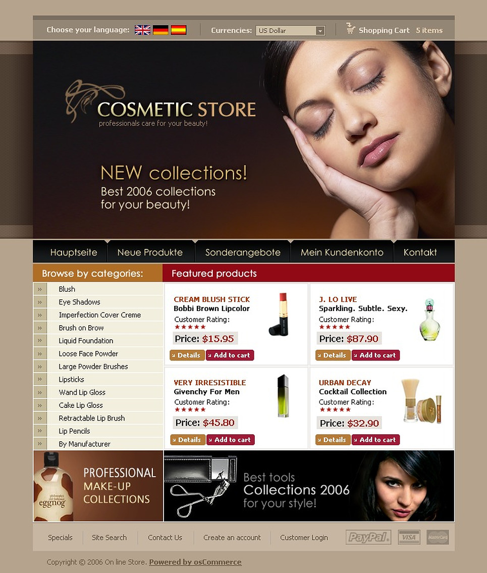at home store cosmetics oscommerce template 10063 10063