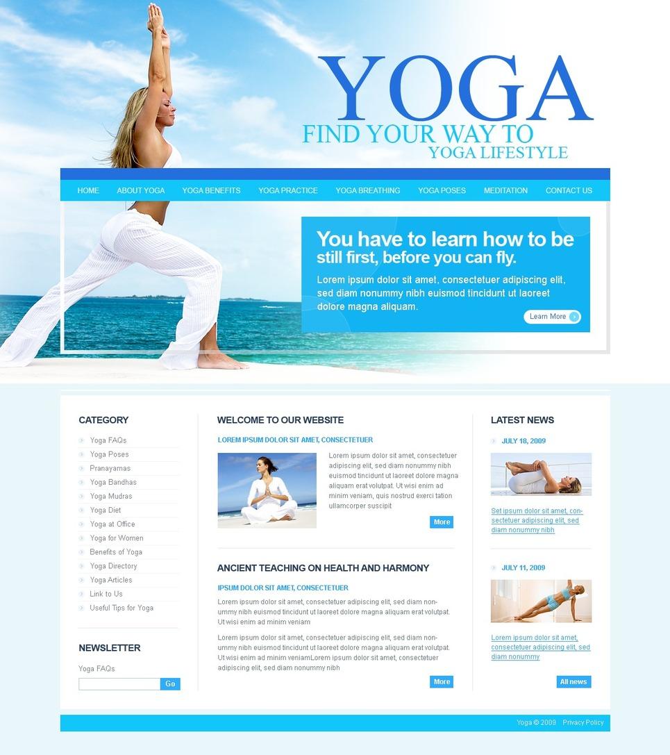 Yoga Website Template - Web Design Templates, Website ...