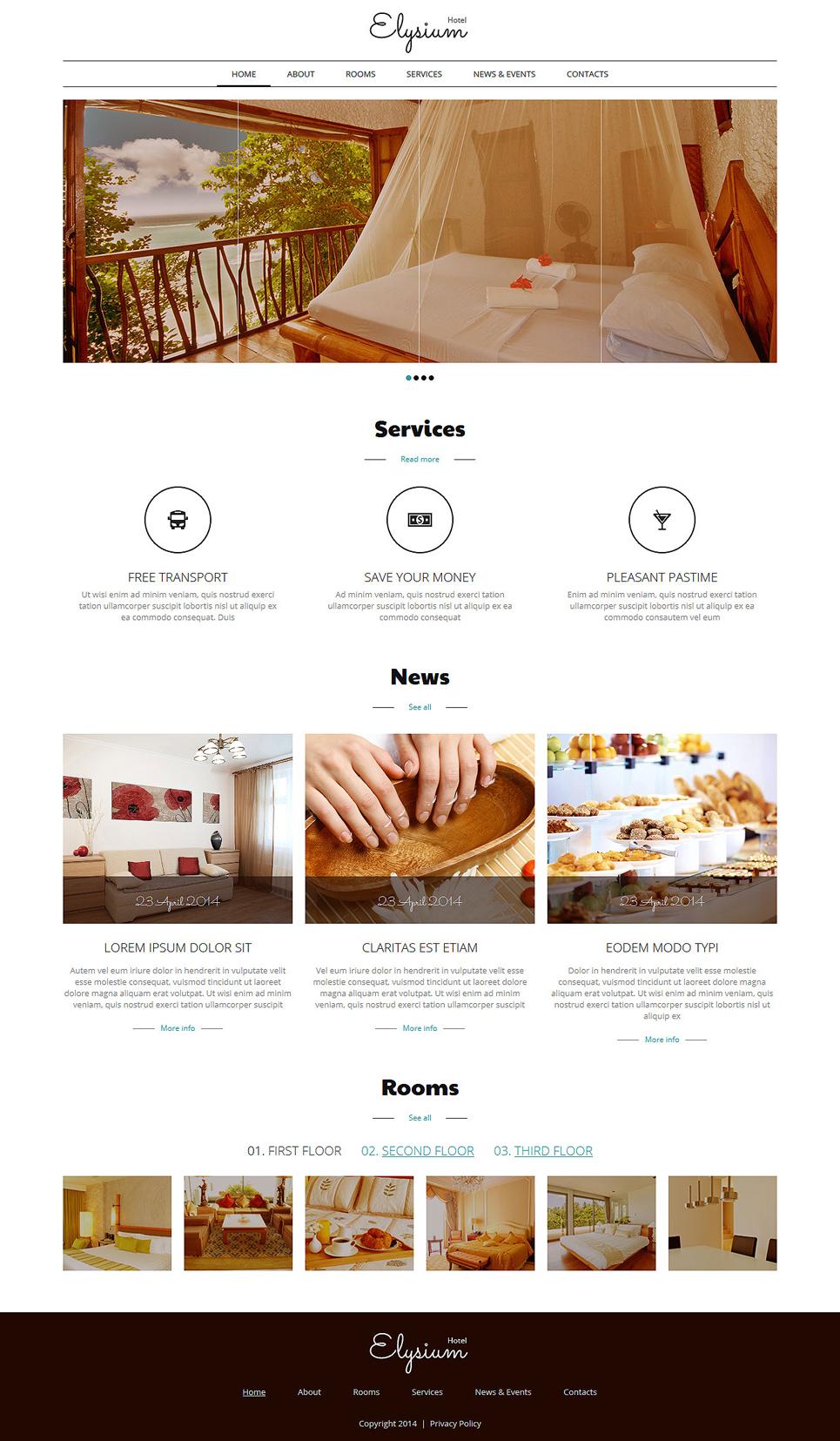 Hotels Motels Joomla Template