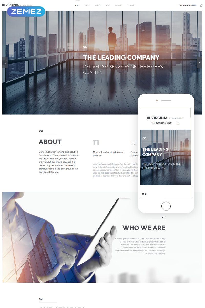 Corporate Joomla Theme