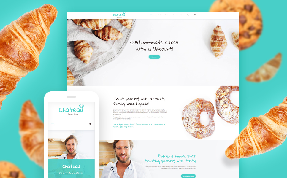 Cakes & Bakery Responsive WordPress Theme