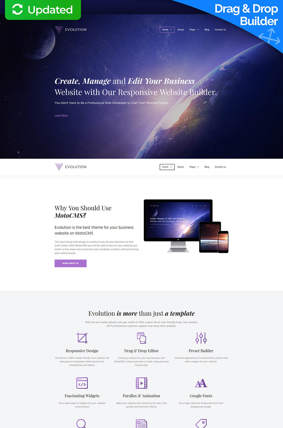Evolution Business MotoCMS Template