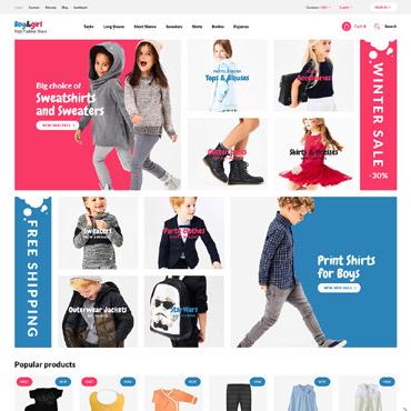 Homepage für Kinderbekleidungsshop erstellen lassen